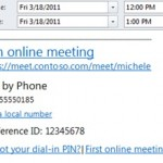 Outlook, organizing a Lync 2013 meeting